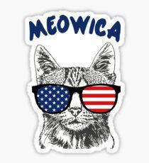 Meowica USA Cat Sticker