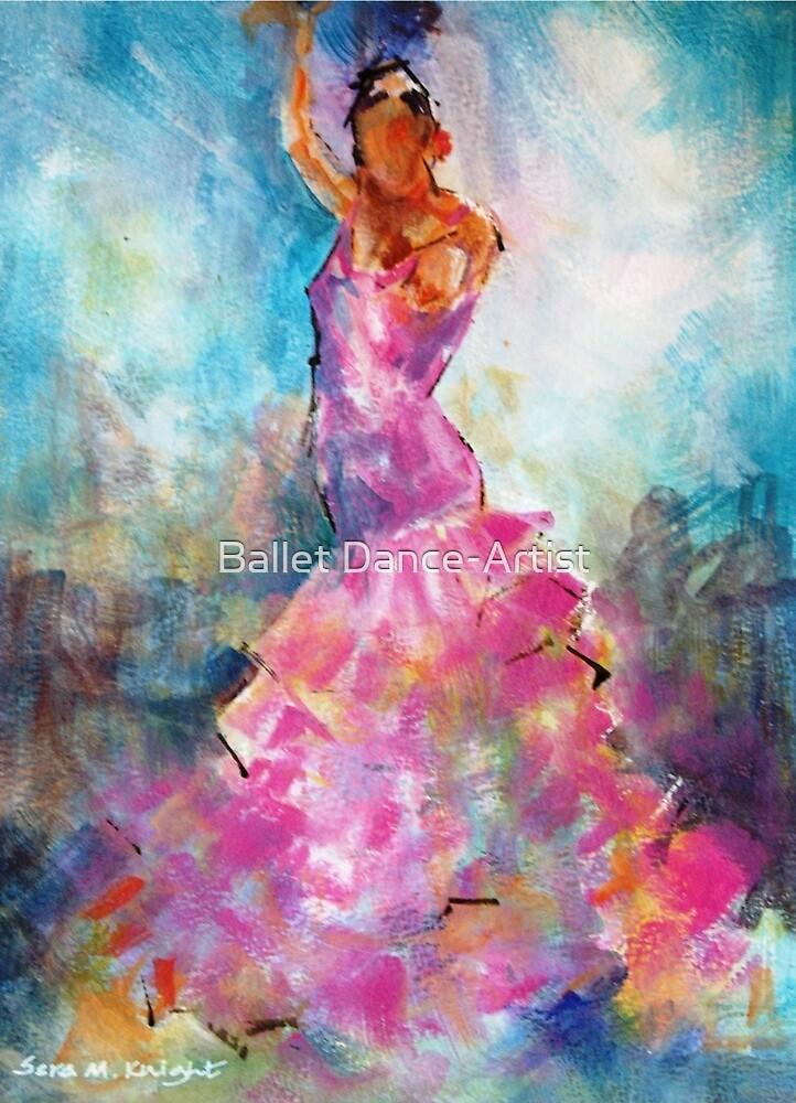 Flamenco Dancer In Pink Dress - Dance Art Gallery by Ballet Dance-Artist