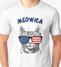 Meowica USA Cat Unisex T-Shirt