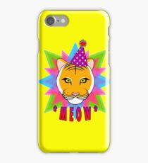 Serious Tiger Cat in Fabulous Party Hat  iPhone Case/Skin