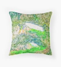 Beautiful landscape cave painting Throw Pillow