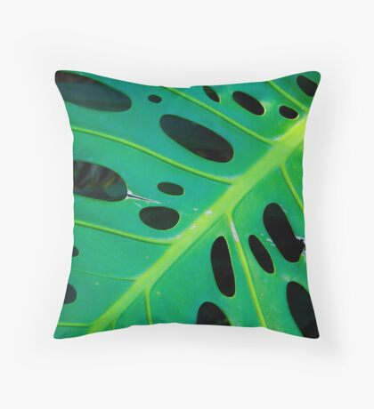 Cheeseplant Throw Pillow