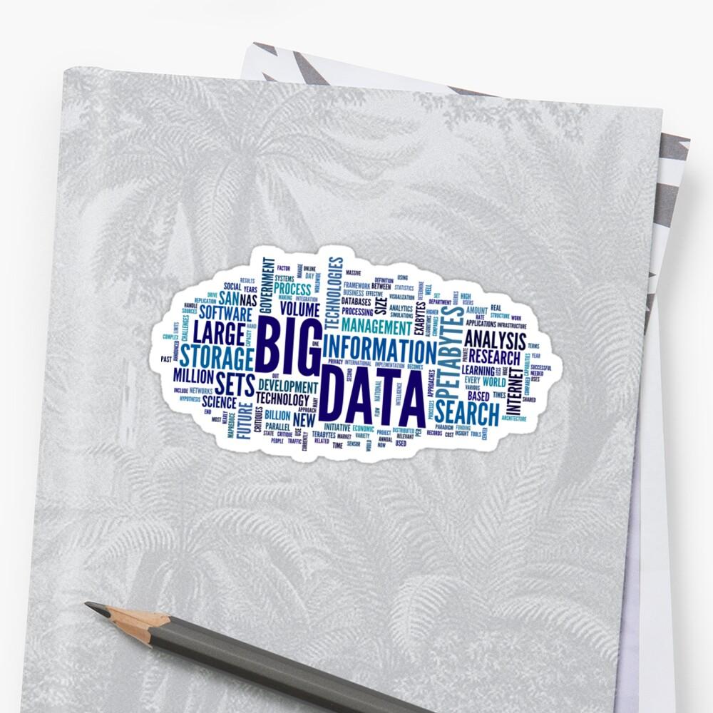 «big data cloud blue» de yourgeekside