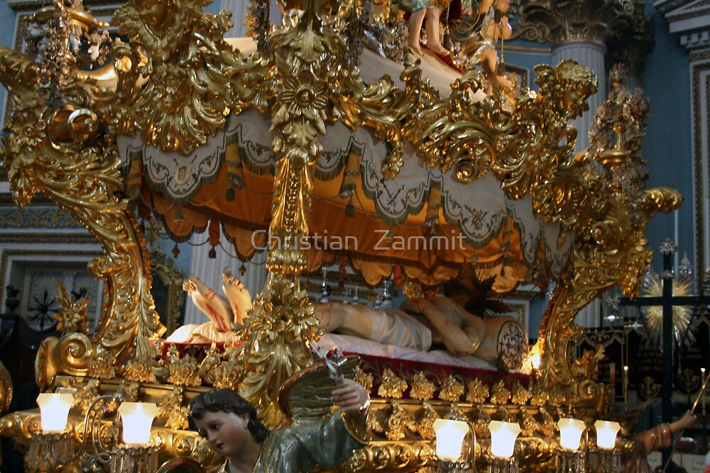 The golden death of Jesus  by Christian  Zammit