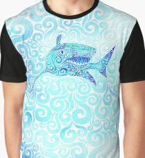 Swirly Shark Graphic T-Shirt