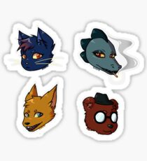Night In The Woods - Mae, Bea, Gregg and Angus  Sticker