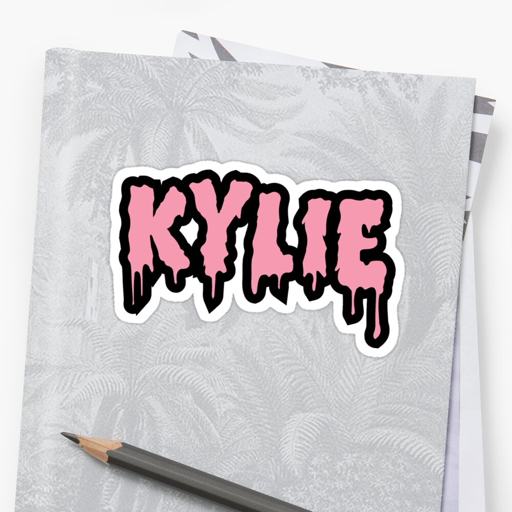 quotkylie jenner logo quot stickers by emmablackk redbubble