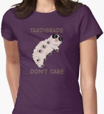 Tardigrade Don't Care Women's Fitted T-Shirt