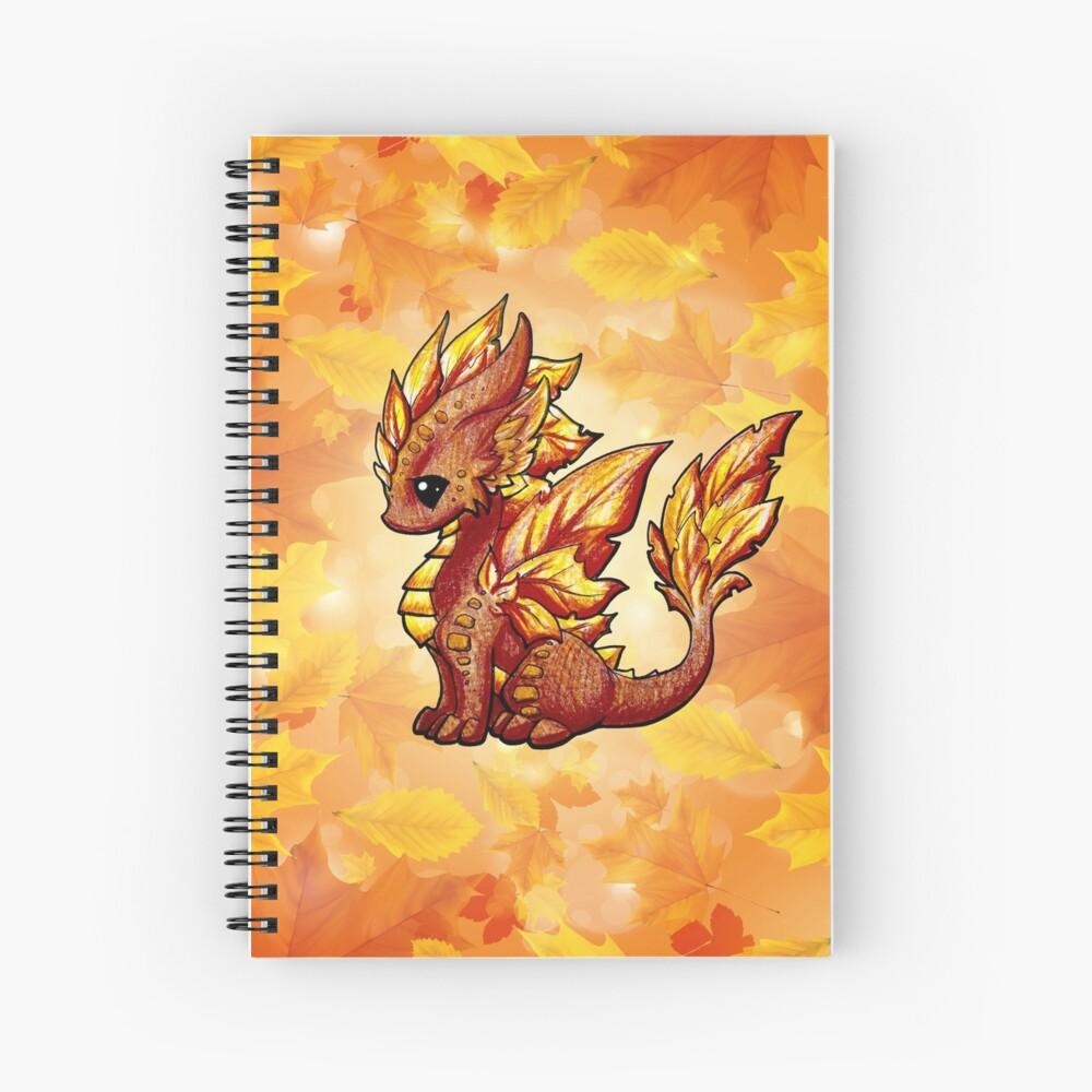 Dragón de otoño Cuaderno de espiral