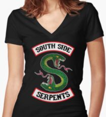 South Side Serpents (Jacket version) Women's Fitted V-Neck T-Shirt
