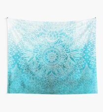 Fade to Teal - watercolor + doodle Wall Tapestry