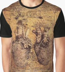 HEART, Leonardo da Vinci, Heart And Its Blood Vessels Graphic T-Shirt