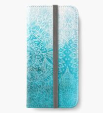 Fade to Teal - watercolor + doodle iPhone Wallet/Case/Skin