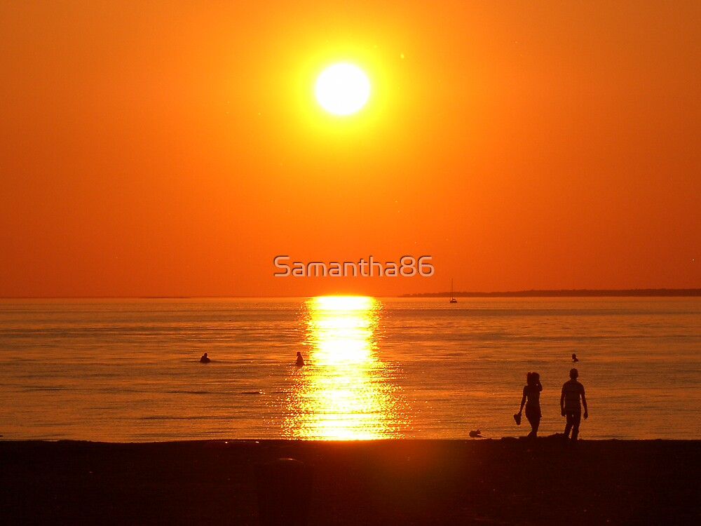 Sunset on the Beach by Samantha86