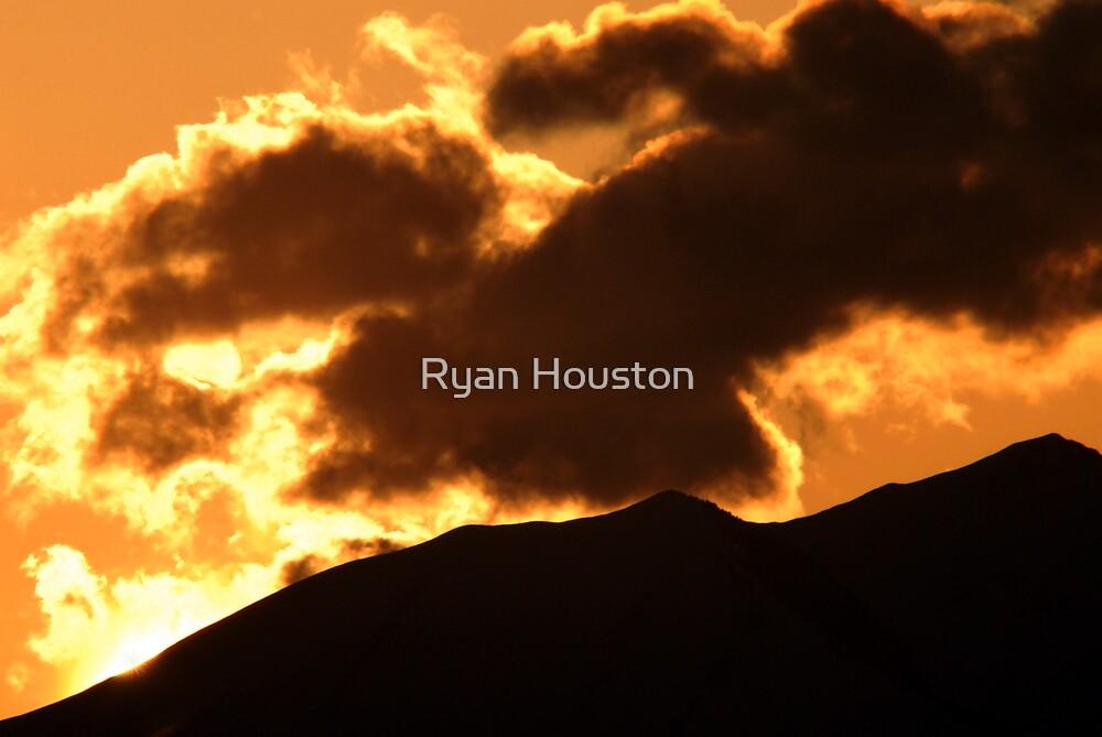 Cloudy Sunset - Northwest of Lehi, UT by Ryan Houston