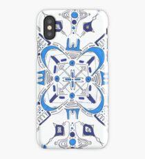 Blue Symmetry iPhone Case/Skin