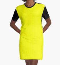 Neon fluorescent Yellow | Yellow|neon Yellow/Fluro Yellow Graphic T-Shirt Dress