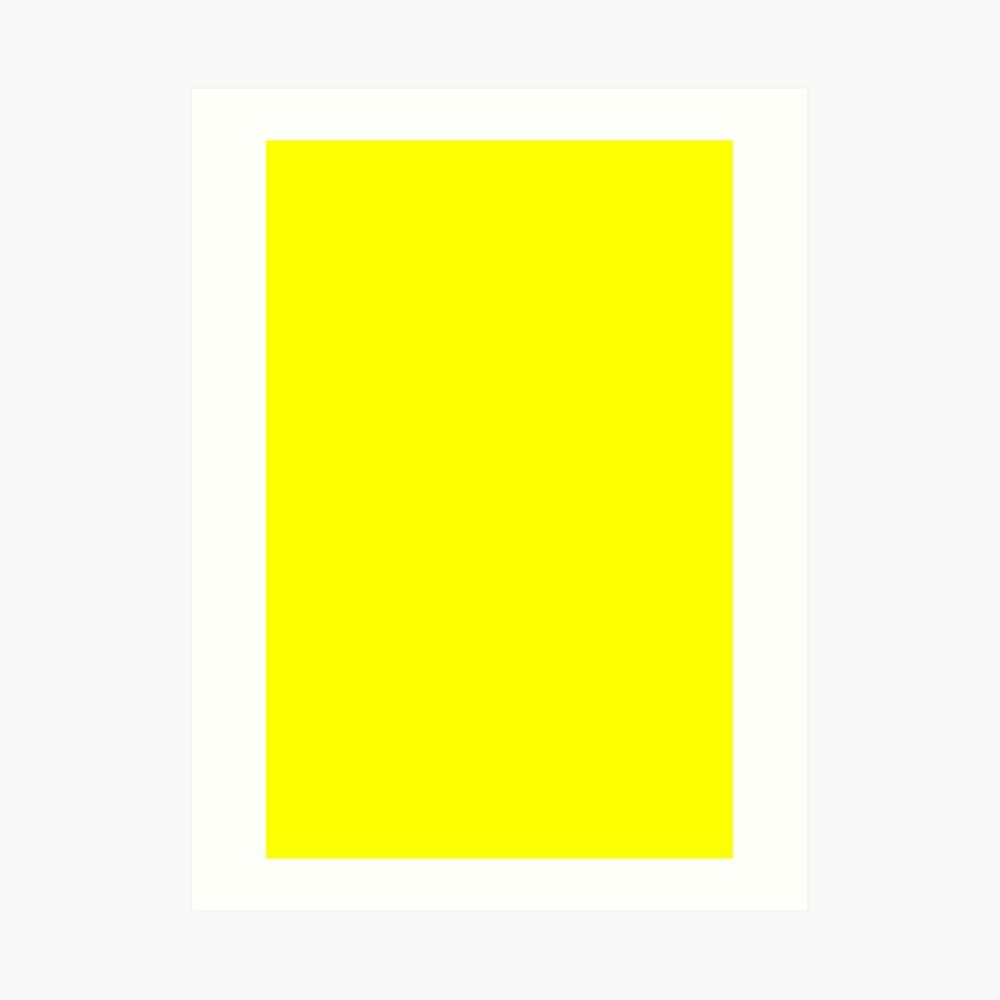 Neon fluorescent Yellow | Yellow|neon Yellow/Fluro Yellow Art Print