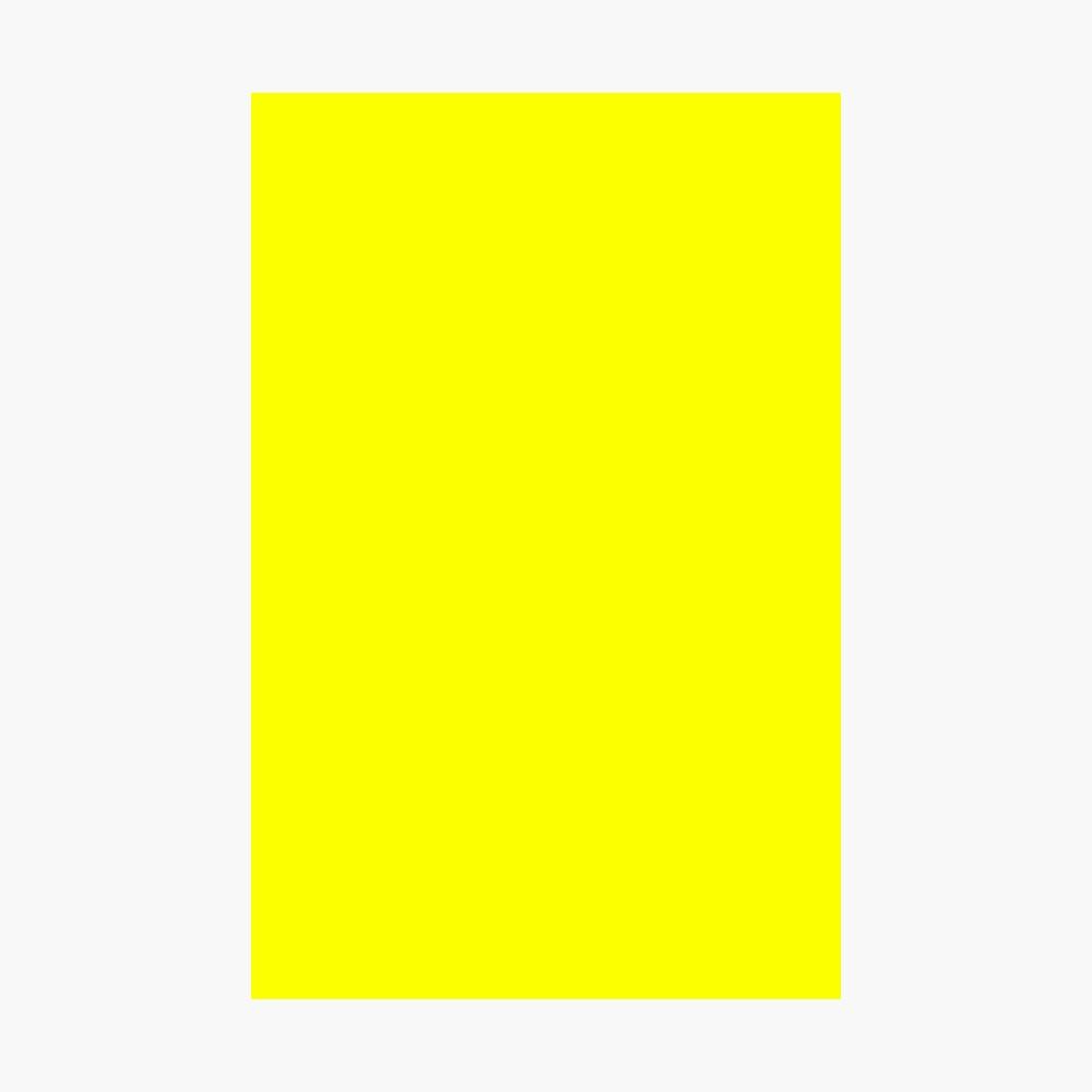 Neon fluorescent Yellow   Yellow neon Yellow/Fluro Yellow Photographic Print