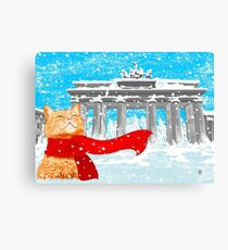 Christmas Cat (Tabby) Canvas Print