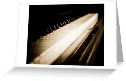 Sepia Piano Keyboard by HouseofSixCats