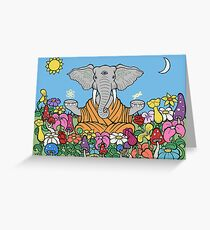 Third Eye Elephant Greeting Card