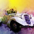 Classic 36 Auburn Speedster Watercolour by ChasSinklier