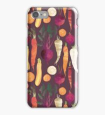 Autumn Root Vegetables pattern iPhone Case/Skin