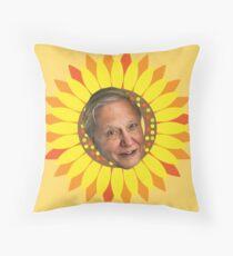 David Attenborough Throw Pillow