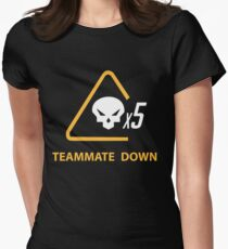 mercy team mate down Womens Fitted T-Shirt