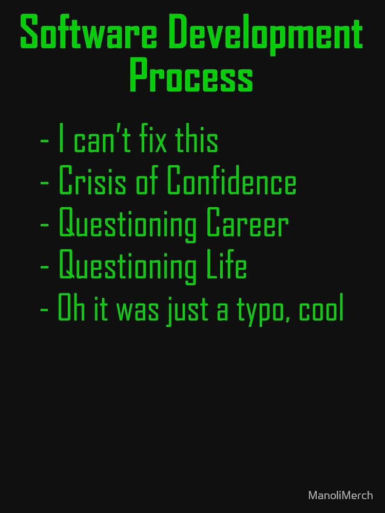 Software Development Humour - Green Design by ManoliMerch
