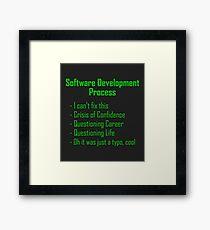 Software Development Humour - Green Design Framed Print