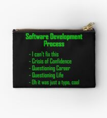 Software Development Humour - Green Design Studio Pouch