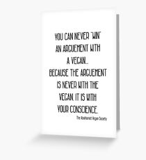 Arguing With a Vegan Greeting Card