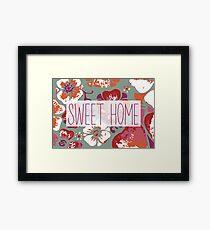 Sweet home Framed Print