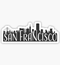 skyline silhouette - san francisco Sticker