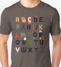 Pop culture alphabet T-Shirt