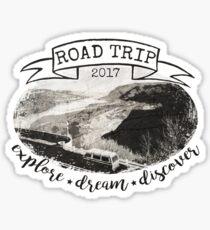 Road Trip 2017 Explore Dream Discover Sticker