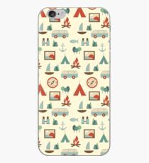Simple abstract seamless tourist pattern iPhone Case
