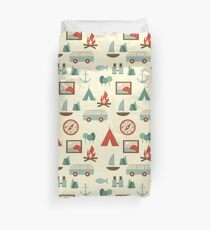 Simple abstract seamless tourist pattern Duvet Cover