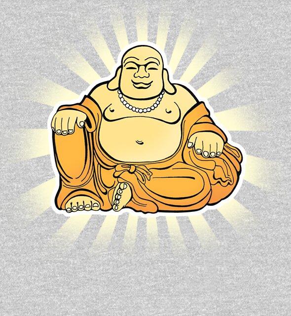 Happy Buddha by rubyred