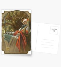 The Elf King throned Postcards