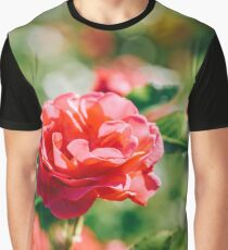 Beautiful Red Rose In Summer Graphic T-Shirt