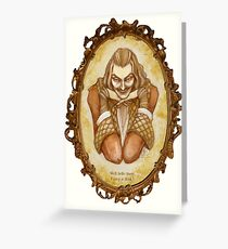 Valentine Date with Dracula, with text Greeting Card