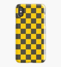 Yellow Checkers - Chess - Racing Flag iPhone Case/Skin