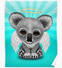 Cute Baby Koala Angel Poster