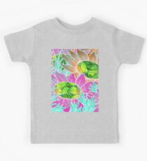 Floral Abstract Artwork Kids Tee