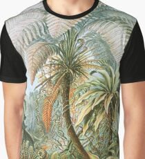 Vintage Fern and Palm Tree Art Graphic T-Shirt