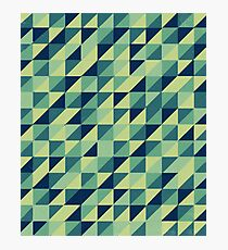 Minimal Checkers - Blue Photographic Print