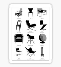 Designers Chairs Sticker